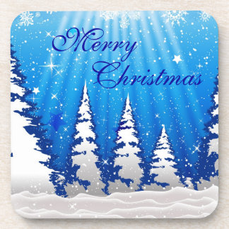 Christmas Trees Drink Coaster