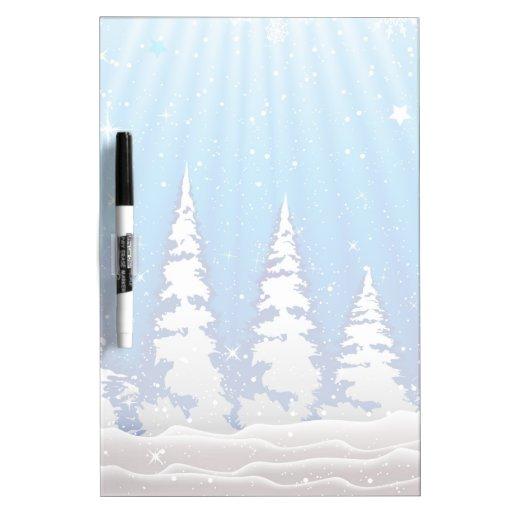 Christmas Trees Dry-Erase Whiteboard