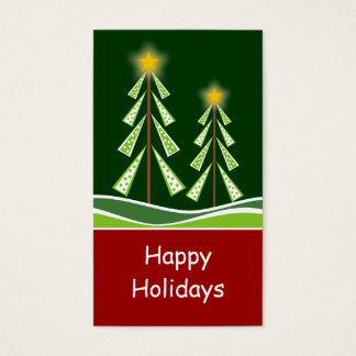 Christmas Trees Gift Tag Business Card