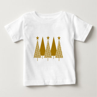 Christmas Trees - Gold Ribbon Baby T-Shirt