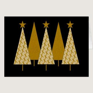Christmas Trees - Gold Ribbon Card