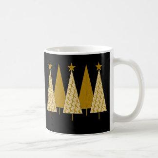 Christmas Trees - Gold Ribbon Coffee Mug