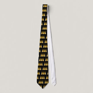 Christmas Trees - Gold Ribbon Neck Tie