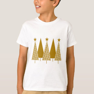 Christmas Trees - Gold Ribbon T-Shirt