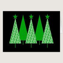 Christmas Trees - Green Ribbon Kidney Cancer Card