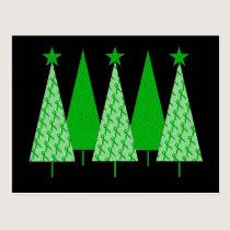 Christmas Trees - Green Ribbon Kidney Cancer Postcard