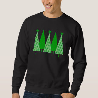 Christmas Trees - Green Ribbon Kidney Cancer Sweatshirt