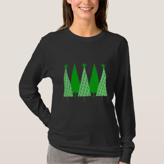 Christmas Trees - Green Ribbon Kidney Cancer T-Shirt