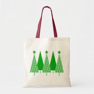Christmas Trees - Green Ribbon Kidney Cancer Tote Bag
