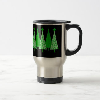 Christmas Trees - Green Ribbon Kidney Cancer Travel Mug
