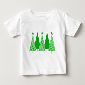 Christmas Trees - Green Ribbon Liver Cancer Baby T-Shirt