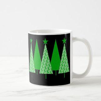 Christmas Trees - Green Ribbon Liver Cancer Coffee Mug