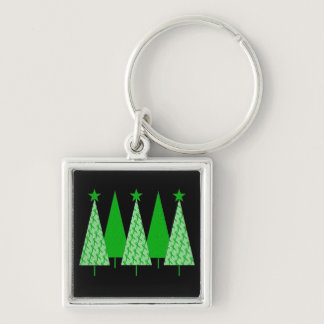 Christmas Trees - Green Ribbon Liver Cancer Keychain