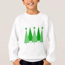 Christmas Trees - Green Ribbon Liver Cancer Sweatshirt