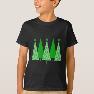 Christmas Trees - Green Ribbon Liver Cancer T-Shirt