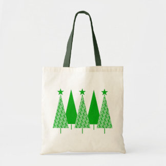 Christmas Trees - Green Ribbon Liver Cancer Tote Bag