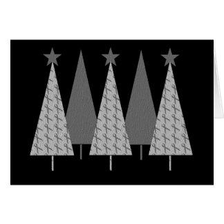Christmas Trees - Grey Ribbon Brain Cancer Greeting Cards