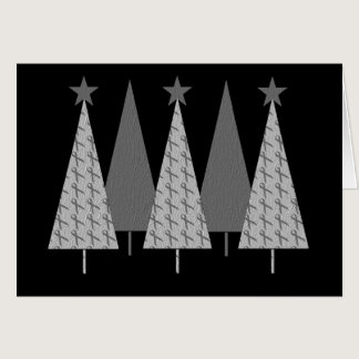 Christmas Trees - Grey Ribbon Brain Cancer Card