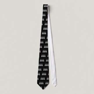 Christmas Trees - Grey Ribbon Brain Cancer Neck Tie