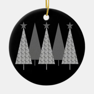Christmas Trees - Grey Ribbon Brain Cancer Ornament