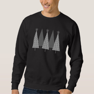 Christmas Trees - Grey Ribbon Brain Cancer Sweatshirt