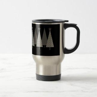 Christmas Trees - Grey Ribbon Brain Cancer Travel Mug