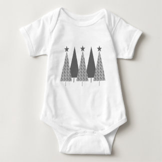 Christmas Trees - Grey Ribbon Diabetes Baby Bodysuit