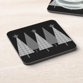Christmas Trees - Grey Ribbon Diabetes Beverage Coaster