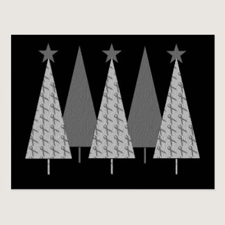 Christmas Trees - Grey Ribbon Diabetes Postcard