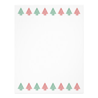 Christmas Trees in a Line - Paper Letterhead
