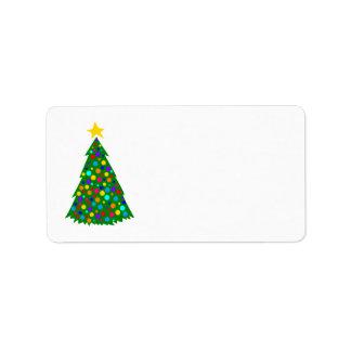 Christmas Trees Custom Address Label