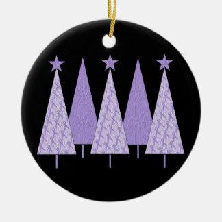 Christmas Trees - Lavender Ribbon Christmas Tree Ornaments