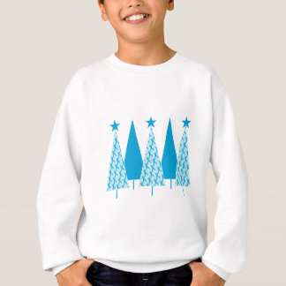 Christmas Trees Light Blue Ribbon Sweatshirt