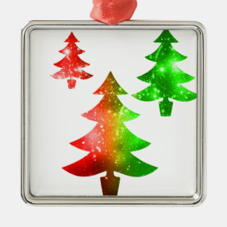 Christmas Trees Metal Ornament