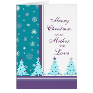 Christmas Trees Mother Merry Christmas Card