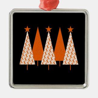 Christmas Trees - Orange Ribbon Christmas Tree Ornaments