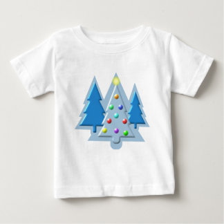 Christmas Trees Outlined with Lights Design T-shirt