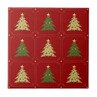 Christmas Trees Pattern Ceramic Tile