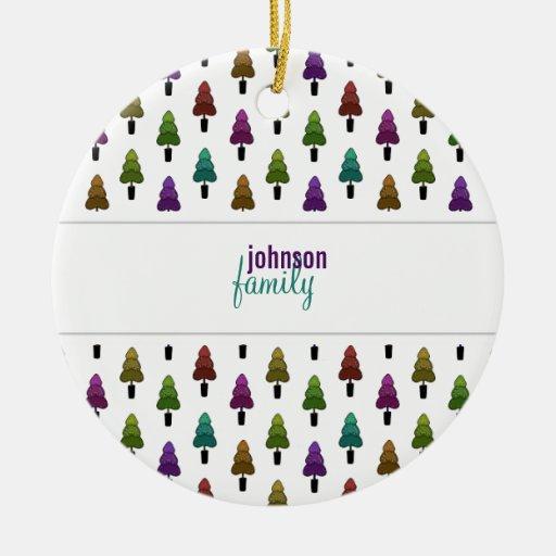 Christmas Trees Pattern Ornament