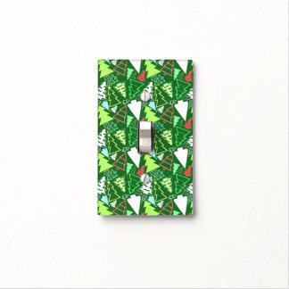 Christmas Trees Patterned Green Light Switch Cover