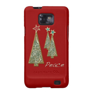 Christmas Trees-Peace/Red Galaxy SII Cases