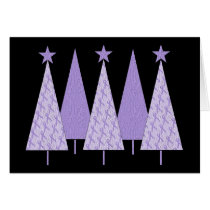 Christmas Trees - Periwinkle Ribbon
