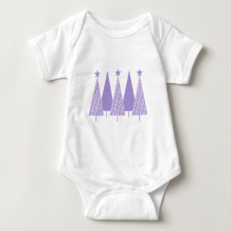 Christmas Trees - Periwinkle Ribbon Baby Bodysuit