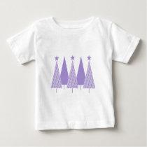 Christmas Trees - Periwinkle Ribbon Baby T-Shirt
