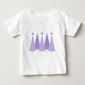 Christmas Trees - Periwinkle Ribbon Baby T-Shirt