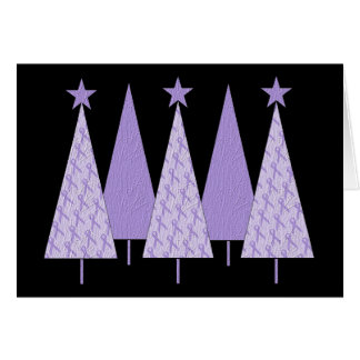 Christmas Trees - Periwinkle Ribbon Card