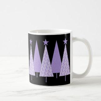 Christmas Trees - Periwinkle Ribbon Coffee Mug