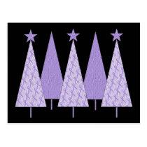Christmas Trees - Periwinkle Ribbon Postcard