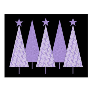 Christmas Trees - Periwinkle Ribbon Postcard
