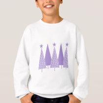 Christmas Trees - Periwinkle Ribbon Sweatshirt